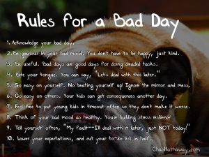Rules for a Bad Day