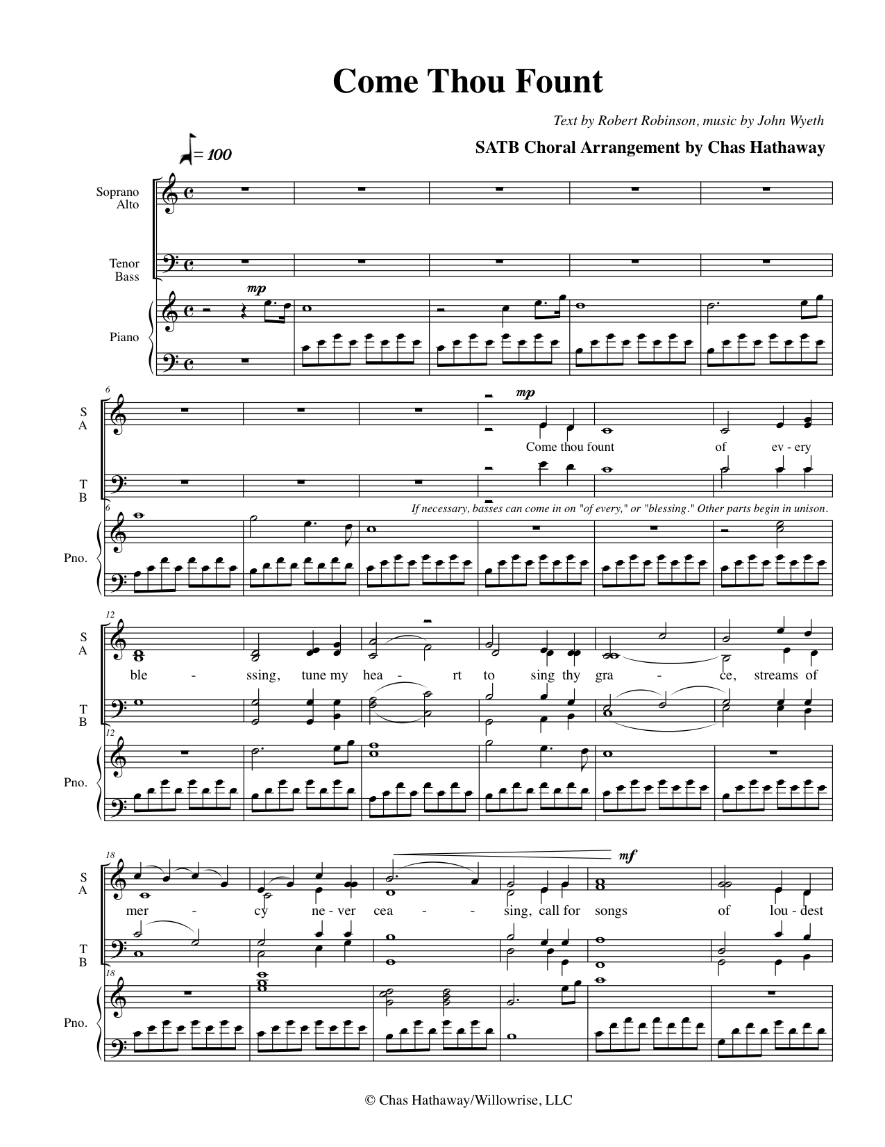 how to play come thou fount on guitar